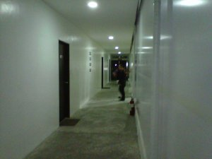 the VIP waiting area / corridor