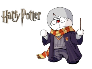 doraemon as Harry Potter :)