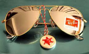 Ray Ban Aviators Mirrored Lens