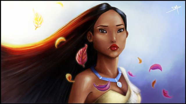 1600x899_8332_Pocahontas_Wallpaper_2d_fan_art_princess_disney_pocahontas_portrait_picture_image_digital_art