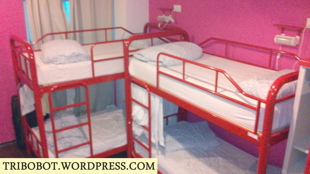 8 bed female dorm with ensuite bathroom