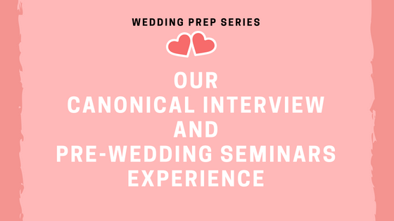 Canonical Interview and Pre-Wedding Seminars (www.tribobot.com)